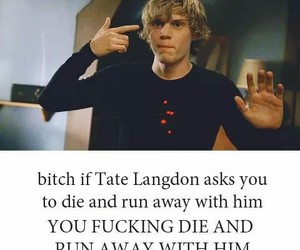 evan peters, ahs, and tate langdon image