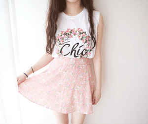 chic, floral, and stylish image