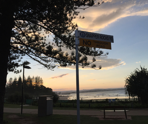 sunset, gold coast, and australia image