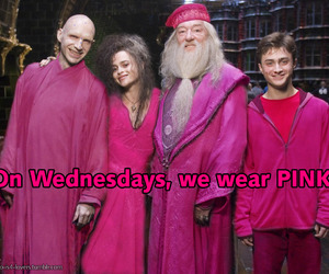 harry potter, pink, and mean girls image