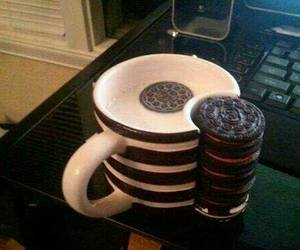 oreo, cup, and Cookies image