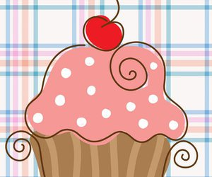 cakes, cupcake, and illustration image