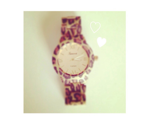 brown, watch, and leopard pattern image
