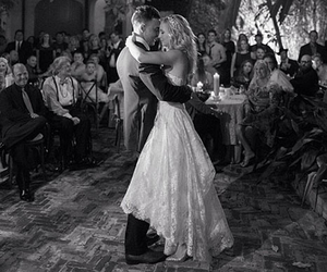wedding, candice accola, and black and white image