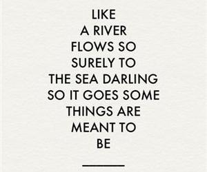 quotes, river, and life image