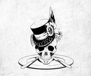 art, black and white, and black butler image