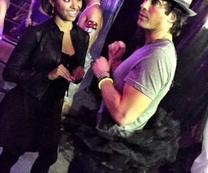 ian somerhalder, kat graham, and tvd image