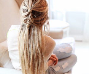 blond, braids, and tips image