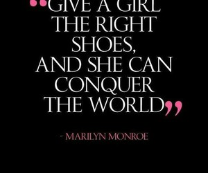 quotes, Marilyn Monroe, and shoes image