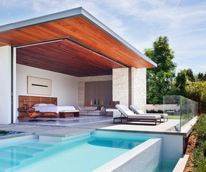 pool, house, and bedroom image