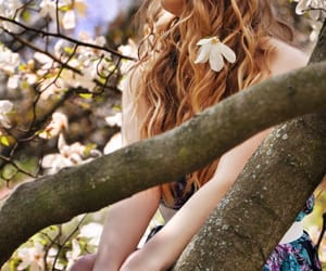 curly, flowers, and girl image