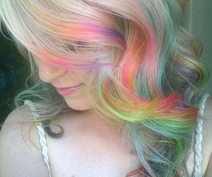 colored, cute, and colored hair image