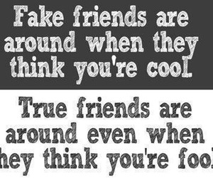 friends, true, and fake image