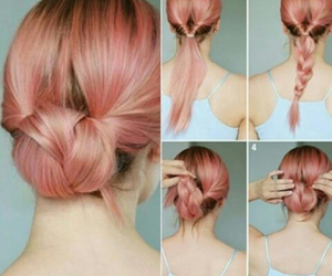 diy, girl, and hairdo image