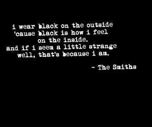 the smiths, quote, and black image