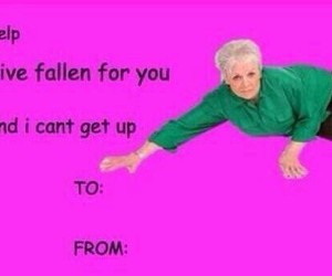 funny, valentine, and card image
