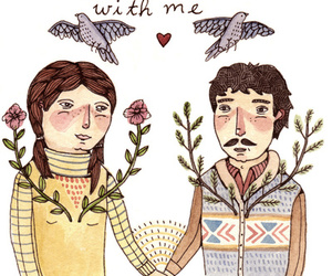quote, illustration, and love image