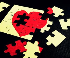 heart, love, and broken image