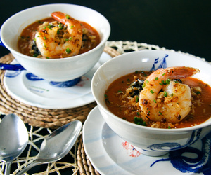 rice, shrimp, and soup image