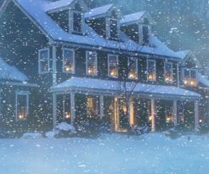 christmas, holiday, and house image