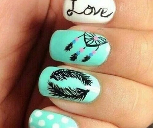 nails, love, and nail art image