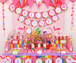 birthday, candy, and invitation image
