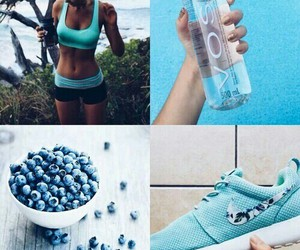 blue, fitness, and nike image