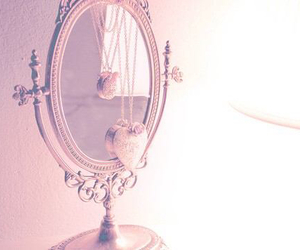 mirror, heart, and necklace image