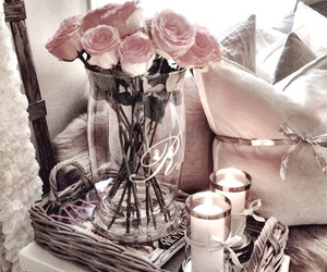 candles, flower, and love image