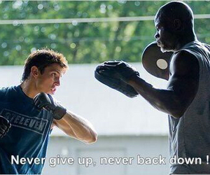 inspiration, never give up, and never back down image