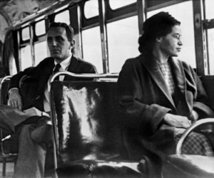 rosa parks, black and white, and woman image
