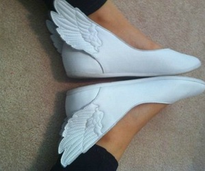 shoes, wings, and white image