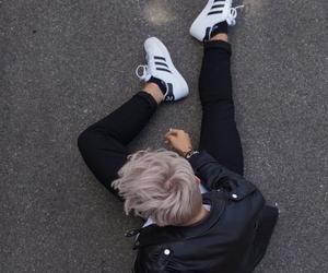 boy, adidas, and grunge image
