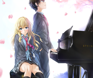 anime, shigatsu wa kimi no uso, and piano image