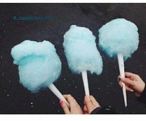 blue, tumblr, and cotton candy image