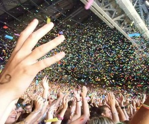 colors, concert, and hands image