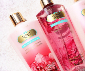 Victoria's Secret, pink, and body lotion image