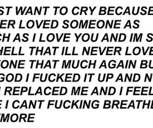 cry, love, and breakup image