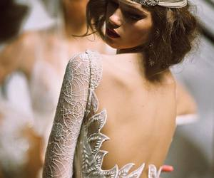 dress, back, and gorgeous image
