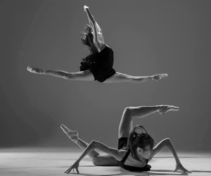 ballerinas, black&white, and dancing image
