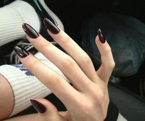 nails, grunge, and black image