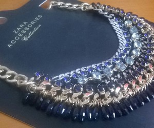 blue, Zara, and necklace image