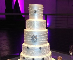 bling, cake, and bride image