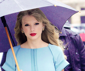 Taylor Swift, red, and umbrella image