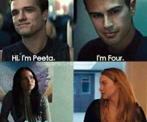 four, divergent, and peeta image