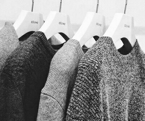 black and white, celine, and knit image