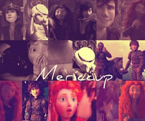 merida, hiccup, and rotg image