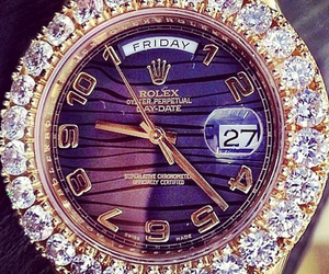 boy, gold, and rolex image