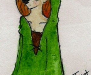 doodle, fantasy, and green image