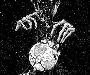 skull, black and white, and black image